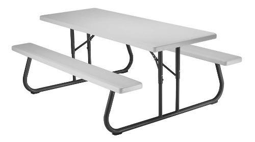 Mesa plegadiza para picnic, mesa de jardín, fácil de
