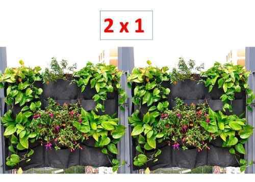 Muro verde jardin vertical follaje interior maceta geotextil