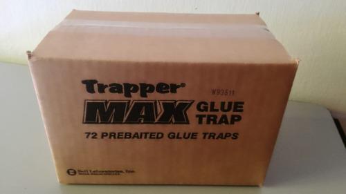 Trampa de pegamento para ratones e insectos 72pz trapper max