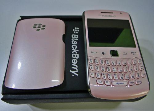 Blackberry hermoso color rosa (telcel) nuev0 + funda