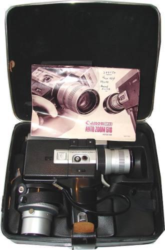 Camara filmadora antigua canon autozoom 518 - no envios