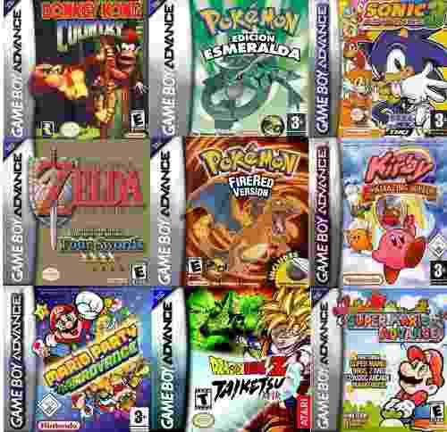Pack 77 juegos game boy advance en español / celular y pc/