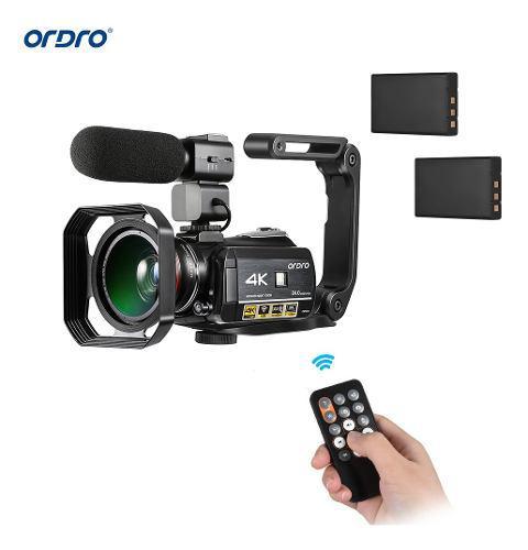 Videocámara digital ordro ac3, 4k, con wifi, grabadora de