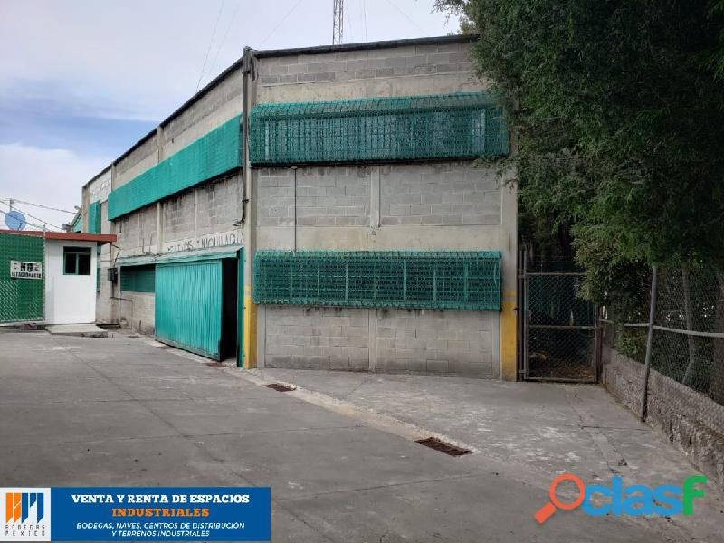 Renta de bodega industrial de 1,285 m2 en lerma