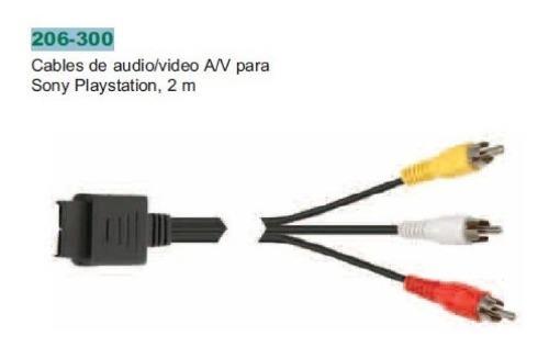 Cable de audio/vídeo para sony ps2, ps1 steren 206-300