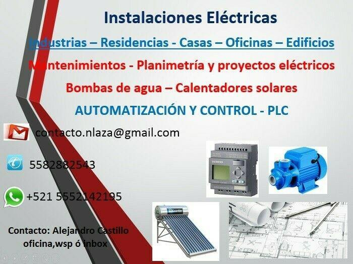 Electricidad - anuncio publicado por alejandro castillo