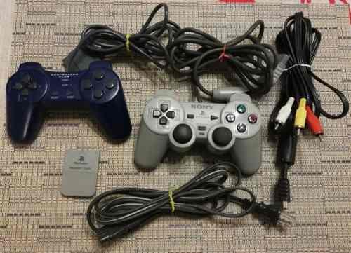 Playstation 1 original 5 juegos memory card dualshock