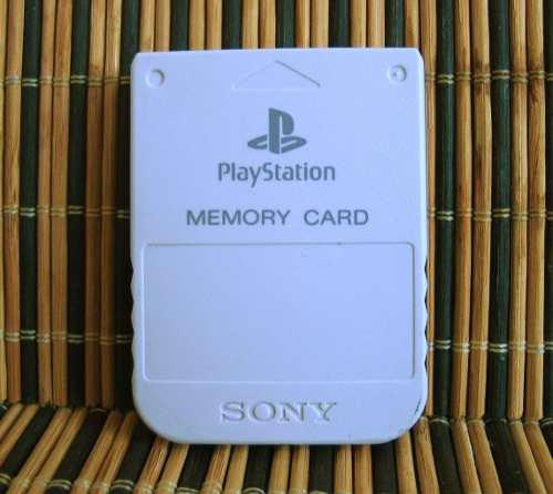 Playstation official memory card light gray - ps1 memoria