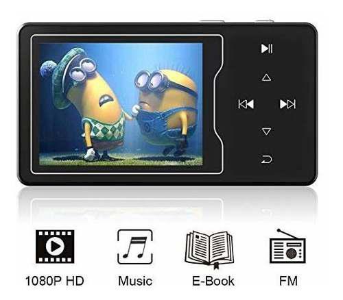 Ruizu d08 reproductor de video mp3 / mp4 pantalla de alta re