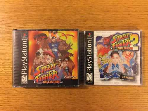 Street fighter collection 1 2 ps1 ps2 ps3 playstation 1 lote