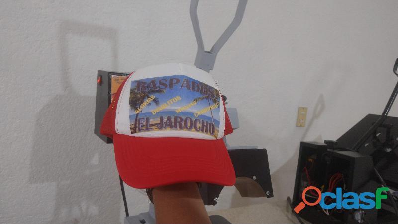 Sublimacion de gorras personalizadas