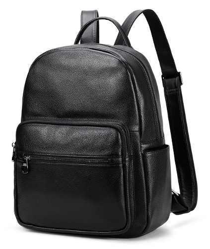 Coolcy caliente estilo real cuero mochila casual daypacks bo