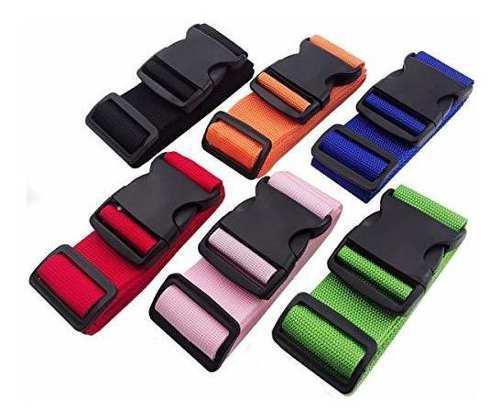 Deebf 6 pcs cinturon de embalaje de equipaje, bolsa de viaje