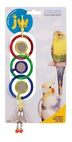 Jw colgante triple espejo activitoy p/ave juguete aves