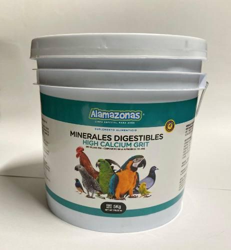 Minerales Digestibles Grit Calcio Alamazonas 5kg Agapornis