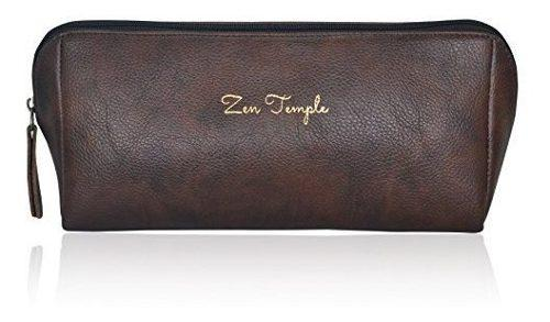 Zen templo premium equipaje para hombre piel vegana bolsa de