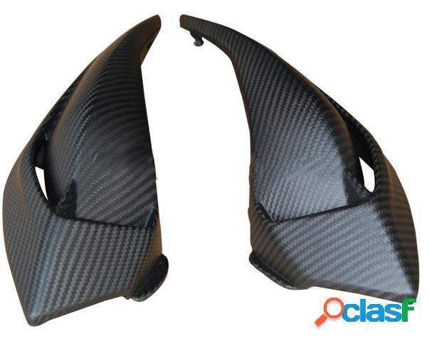 Carenado frontal, fibra de carbono. Motos MV Brutale 675 de 2012.