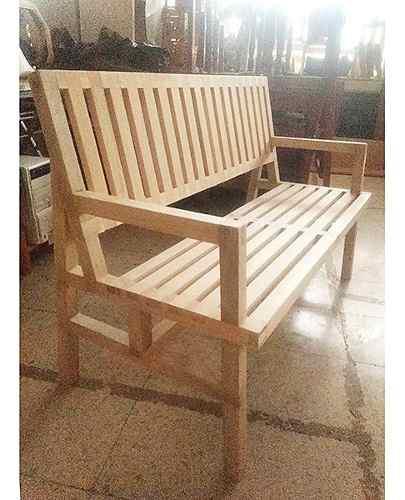 Banca moderna de madera para jardín o exteriores