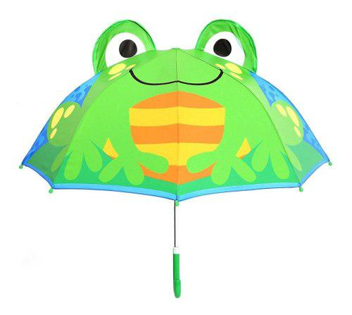 Diseño de dibujos animados niños niñas paraguas lluvia