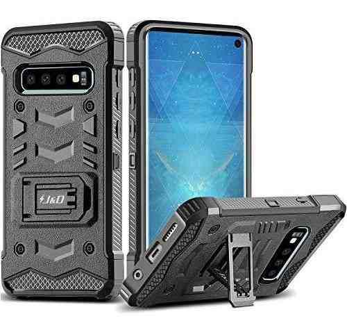 J&d case compatible for galaxy s10 case with kickstand holst