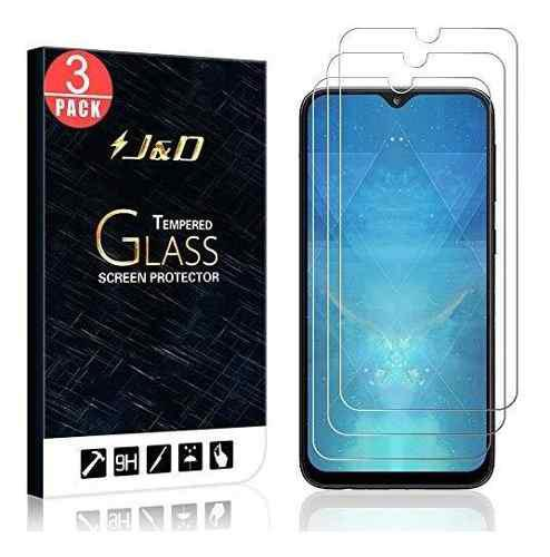 J&d compatible for 3 pack galaxy a10e glass screen protector