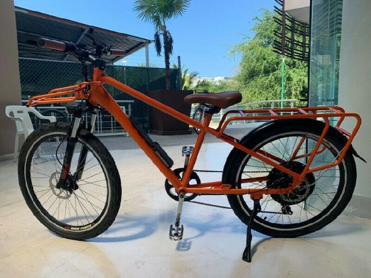 Bicicleta electrica 26 pulgadas 350w nuevo, naranja