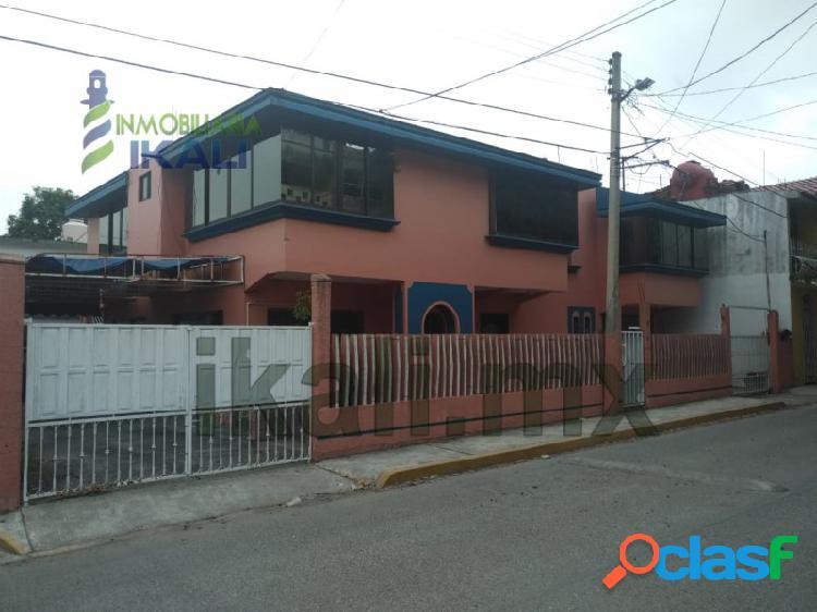 Venta casa 3 recamaras col. tamaulipas poza rica veracruz, tamaulipas