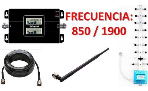 Antena amplificador señal celular telcel movistar 850/1900