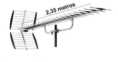 Antena tv digital alto desempeño 40 elementos hd largo