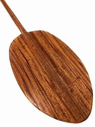 Tikimaster hokulea koa paddle 60, eje recto, fabricado en ha