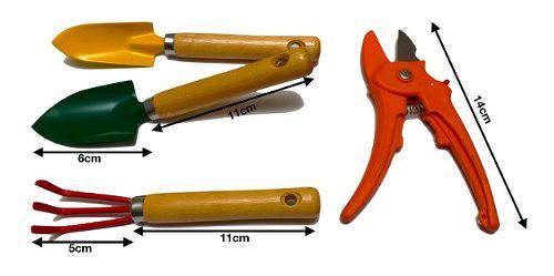 Juego de herramientas de jardinería mini, 4 piezas