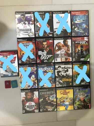 Juegos play station 2 venta en conjunto o por separado