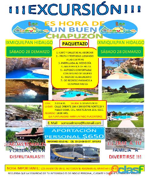 """Excursión al balneario """"las cuevitas"""" en ixmiquilpan hgo."""