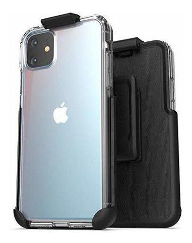Estuche con clip para el cinturon del iphone 11 clear case