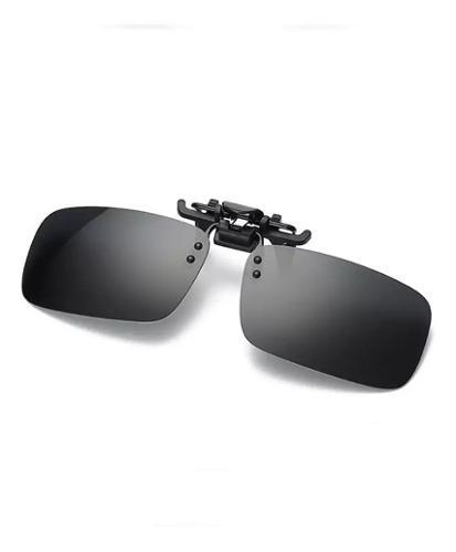 Mica clip-on polarizadas negra para lentes graduados+ funda