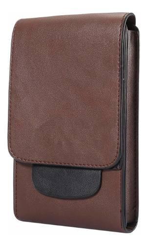 Premium vertical pu leather pouch funda belt clip holster fo