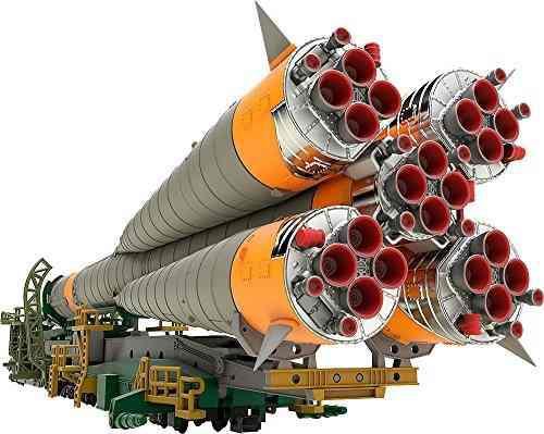 Buena sonrisa soyuz cohete y transporte tren 1150 escala mod