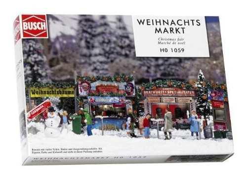 Busch 1059 christmas fair street scn ho scale scenery kit