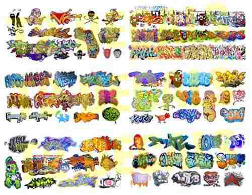 Ho scale custom graffiti decals 8.5 x 11 mega sheet #5