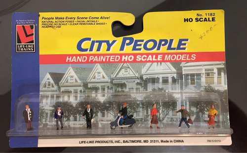 Life like city people hand painted ho scale 1182 (2 paq)