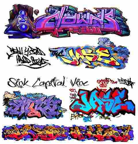 O scale custom graffiti decals #14 - weather your box cars,