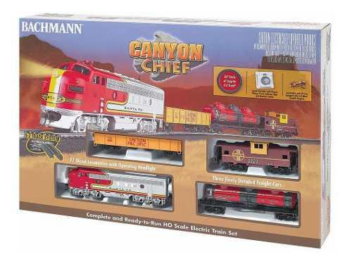 Tren escala ho canyon chief santa fe electrico luz bachmann
