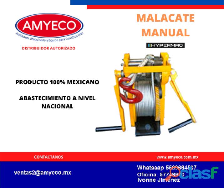 Malacate manual