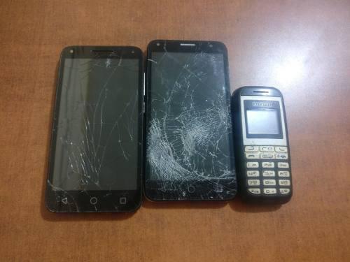 Lote de celulares alcatel para reparar o refacciones