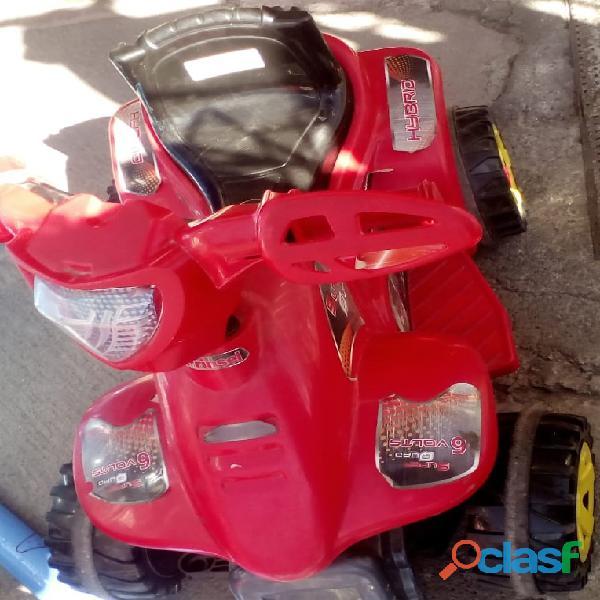 Moto electrica mini quad boy 6v rojo prinsel