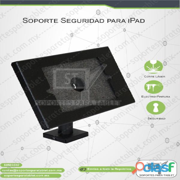 Soporte metálico de seguridad para ipad