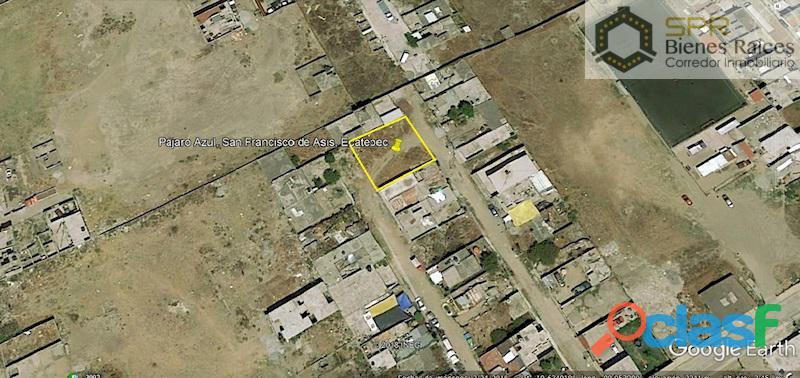 Terreno en venta 384m2, dos frentes, san francisco de asis, ecatepec
