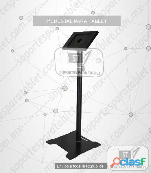 Base piso de seguridad para tablet metalico sst 0120