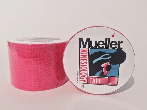 Cinta kinesiológica mueller rosa rollo de 5cm x 5m.