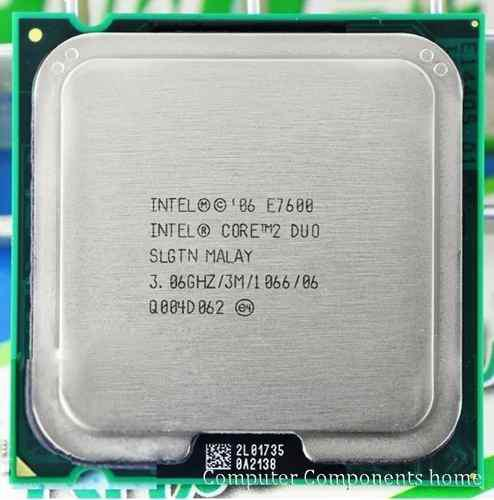Intel core 2 duo e7600 3.06/3m/1066 potencia en tu pc